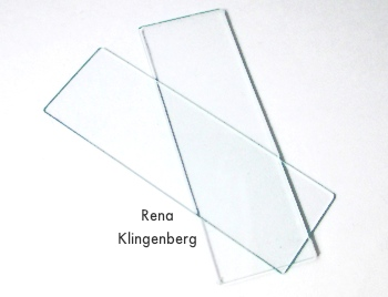 Pendant frame glass for Wire Line Art Pendant - Tutorial by Rena Klingenberg