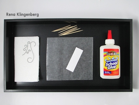 Getting ready for glueing - Wire Line Art Pendant - Tutorial by Rena Klingenberg