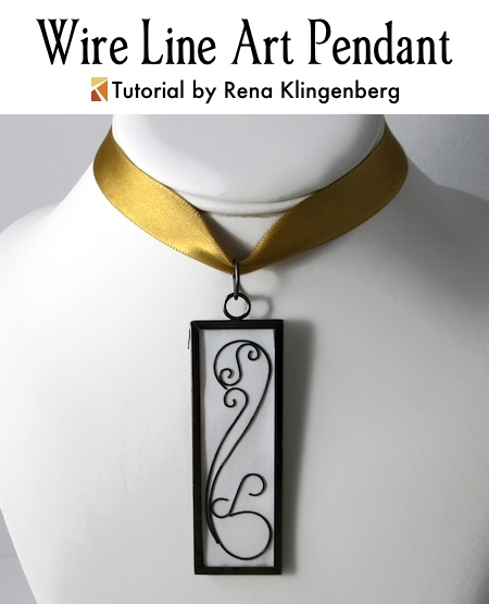 Wire Line Art Pendant - Tutorial by Rena Klingenberg