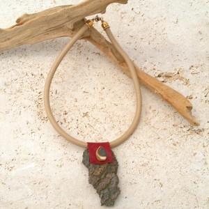 Upcycled Tree Bark Necklace