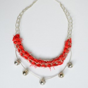 Big and Bold Red Statement Necklace