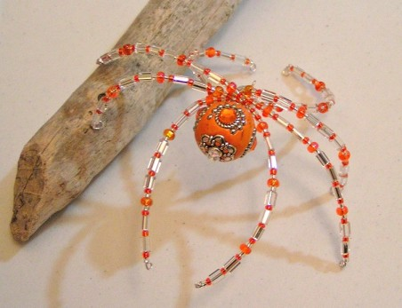 DFoltz: Beaded Christmas Spiders 2