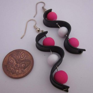 Pink allsorts earrings