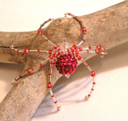DFoltz: Beaded Christmas Spiders 3