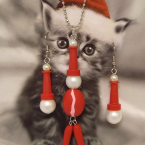 Santa necklace and matching earrings