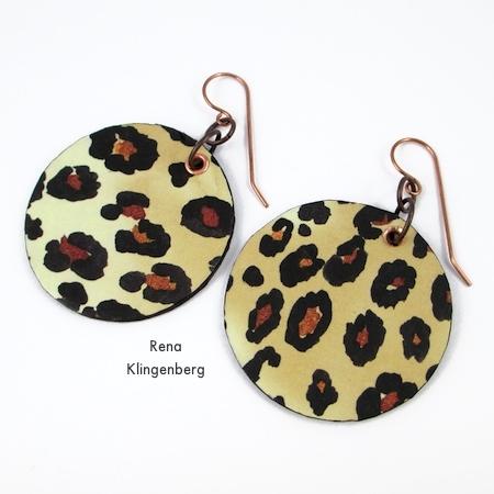 Animal Print Earrings Tutorial By Rena Klingenberg