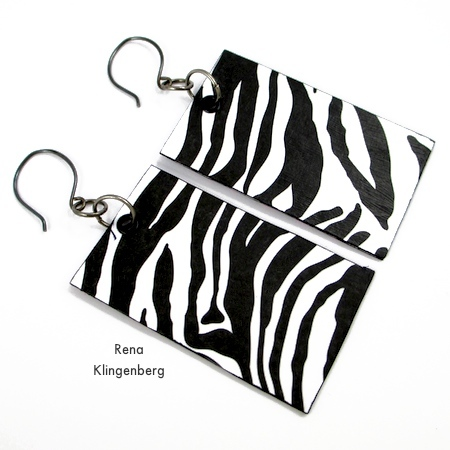Animal Print Earrings - Tutorial by Rena Klingenberg