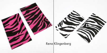 Paper for front and back of Animal Print Earrings - Tutorial by Rena Klingenberg