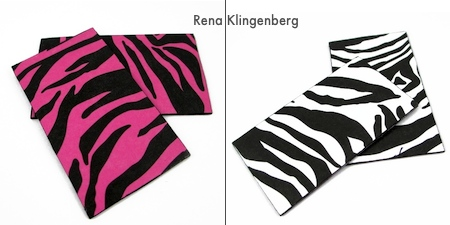 Paper attached to earrings for Animal Print Earrings - Tutorial by Rena Klingenberg