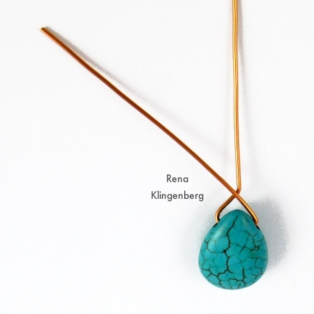 Bending the wire for Briolette Wire Wrapping Techniques - Tutorial by Rena Klingenberg
