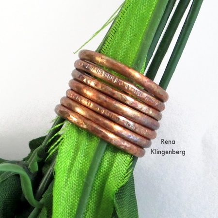 Rustic Adjustable Stacking Rings - Tutorial by Rena Klingenberg