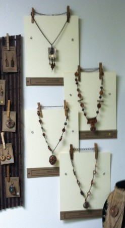 Mat Board Necklace Displays
