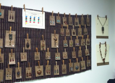 Jewelry Displays for Gallery Showing