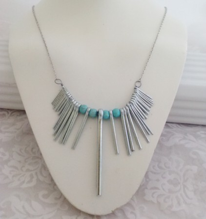 One of a kind Industrial Pin Necklace
