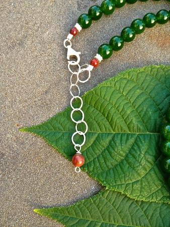 Falling Leaf Handcrafted Picasso Jasper Necklace Jewelry