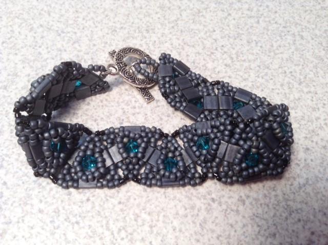 Gray Tila Beads Bracelet