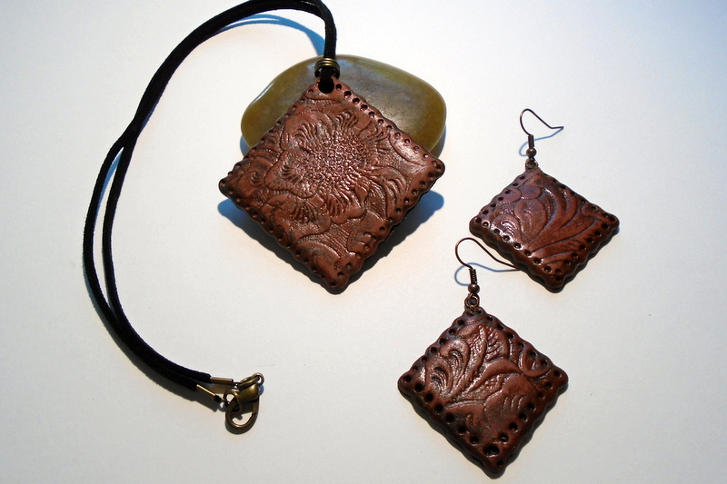 "Polymer Clay as ""Leather"""