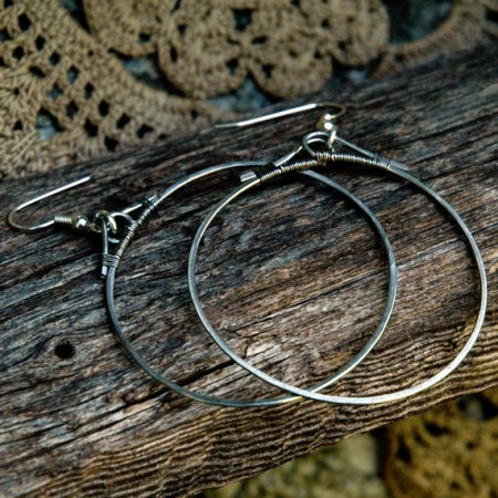 TMarcoe: Hammer Time: First Attempt at Hammered Hoop Earrings 3