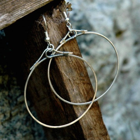TMarcoe: Hammer Time: First Attempt at Hammered Hoop Earrings 2