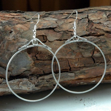 TMarcoe: Hammer Time: First Attempt at Hammered Hoop Earrings 1