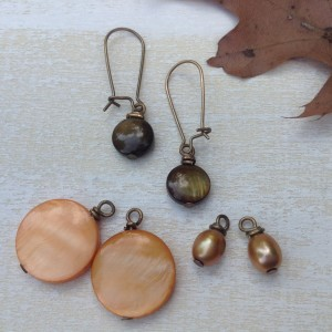 Interchangeable Earrings: Shades of Autumn