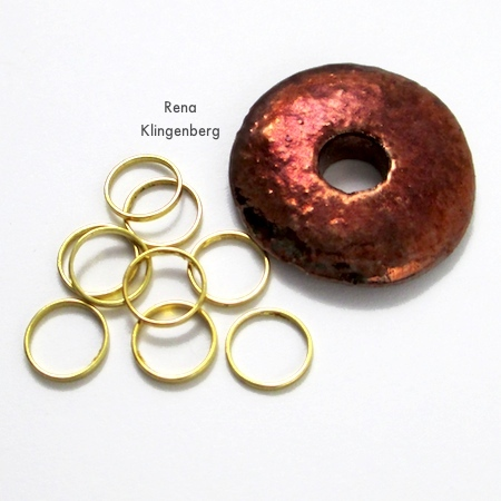 Pendant and rings for Stacked Rings Necklace - Tutorial by Rena Klingenberg