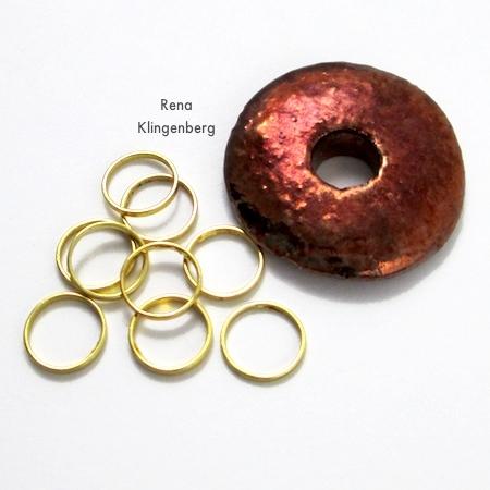 Pingente e anéis para colar de anéis empilhados - Tutorial de Rena Klingenberg