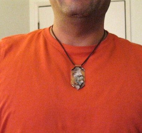 PJohal: Copper and Agate Geode Necklace 2