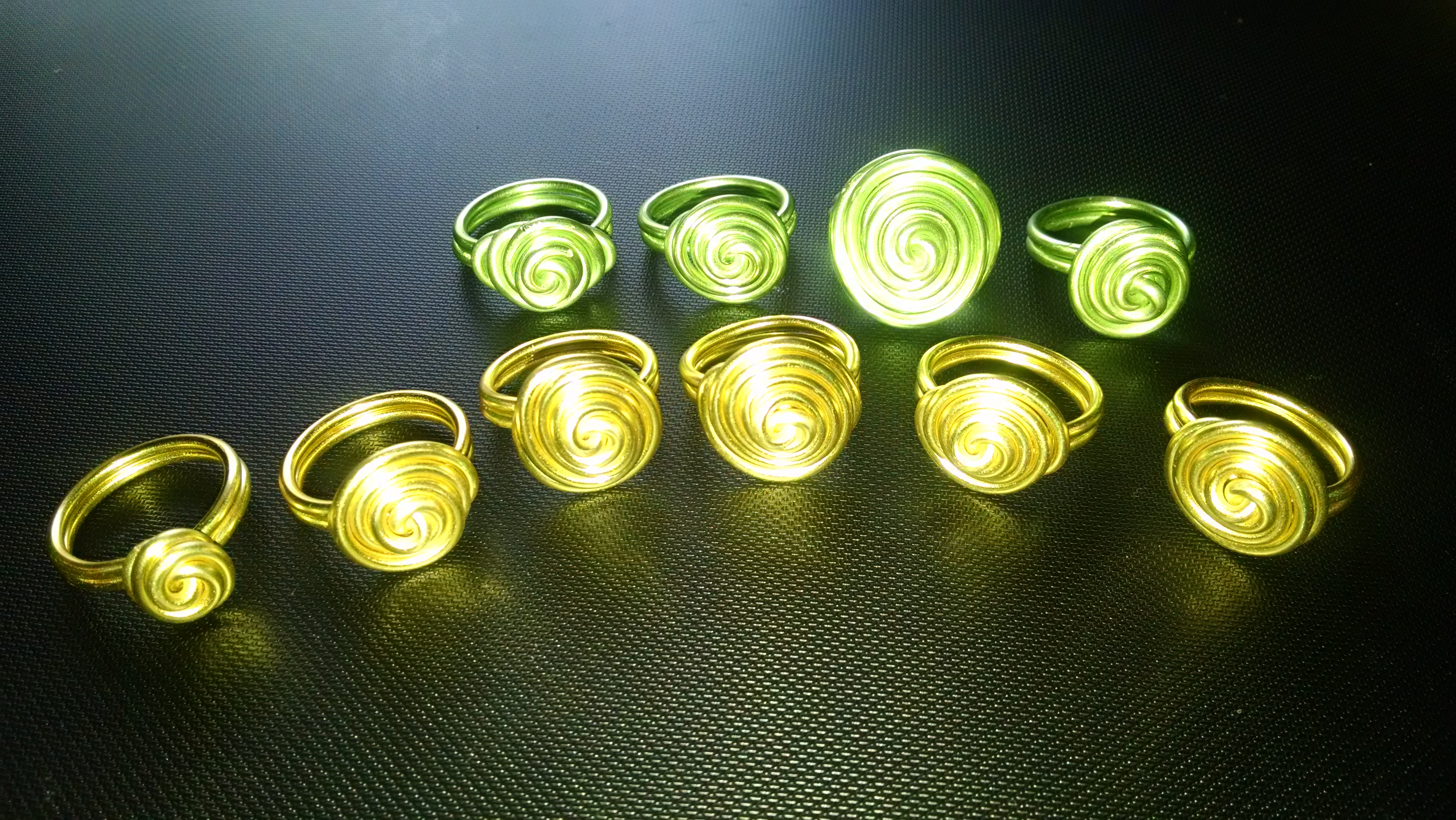 Wire Sculptured Rings