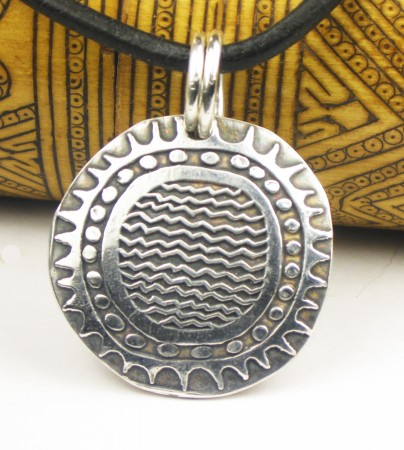 Fine Silver SW Petroglyph Del Sol Pendant