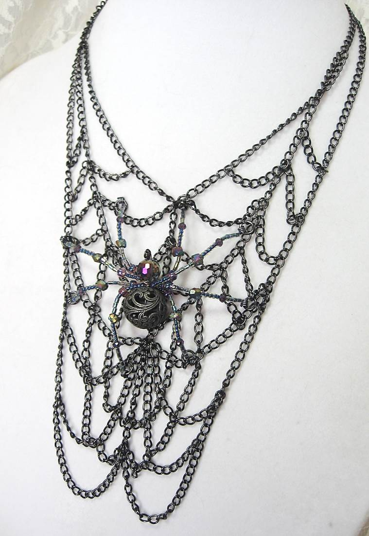 Filigree: The Gothic Beaded Spider for Halloween