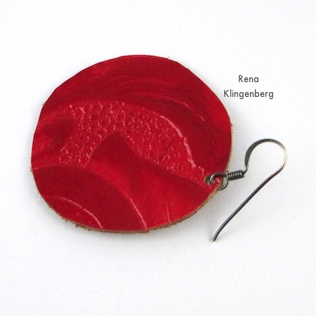 Attaching earwires to Leather Earrings - Tutorial by Rena Klingenberg