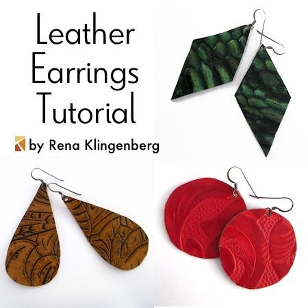 Leather Earrings Tutorial Jewelry Making Journal