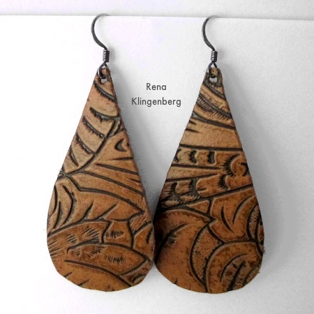 Leather Earrings - Tutorial by Rena Klingenberg