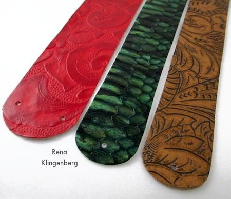 Leather for earrings - Leather Earrings - Tutorial by Rena Klingenberg