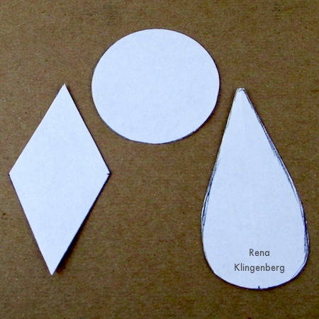 Paper patterns for Leather Earrings - Tutorial by Rena Klingenberg