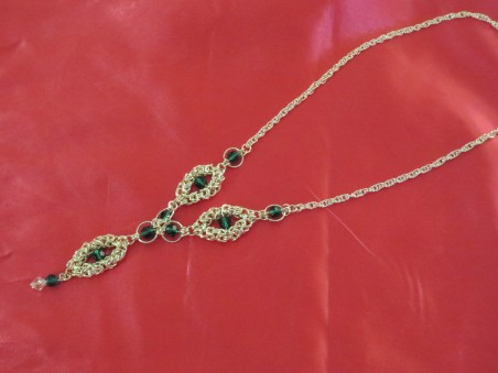 Chain Maille Necklace by Margo Gartman  - featured on Jewelry Making Journal
