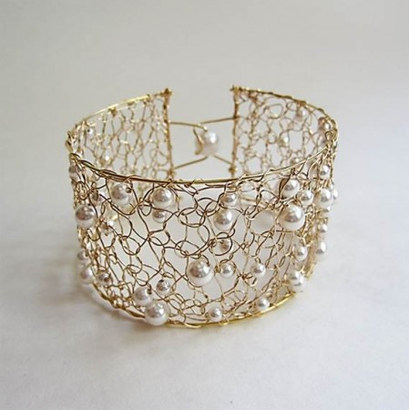 Crocheted Wire Cuff Bracelet Plus Helpful Tips And Tools Jewelry