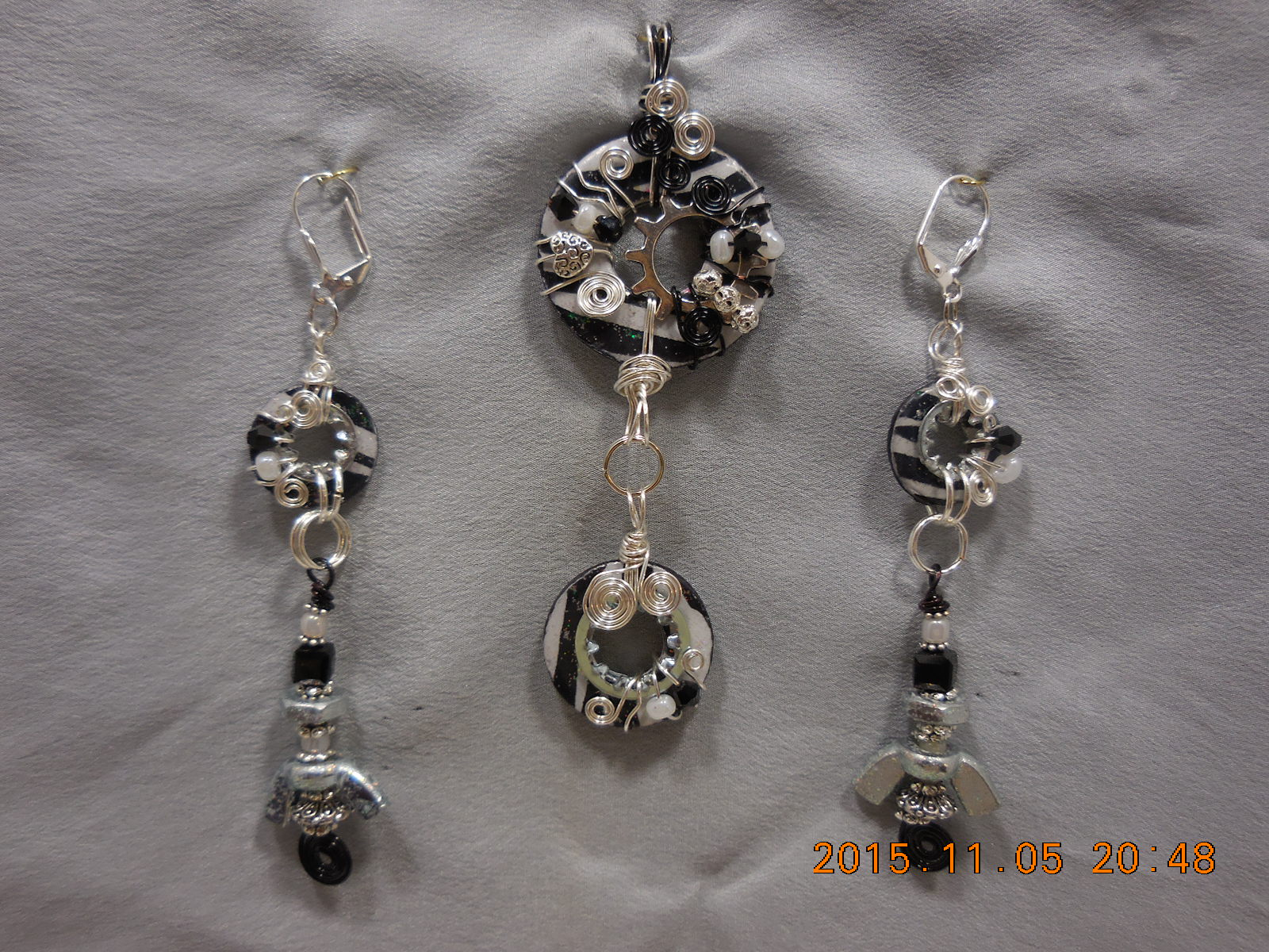 Blinged Out Washer Jewelry Set