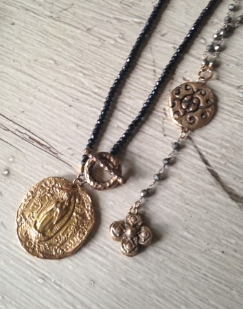 Bronze Clay Necklaces by Kellie Rode  - featured on Jewelry Making Journal