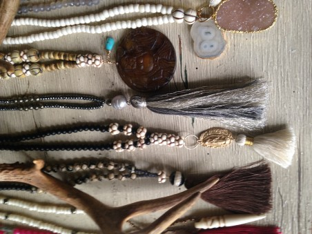 Bronze Clay with Tassel Necklace by Kellie Rode  - featured on Jewelry Making Journal