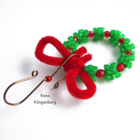 Easy Christmas Ornament Hooks - Tutorial de Rena Klingenberg
