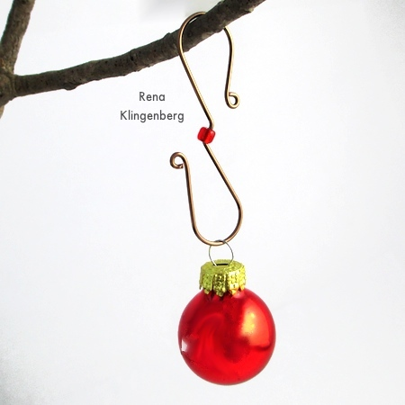 Easy Christmas Ornament Hooks - Tutorial by Rena Klingenberg