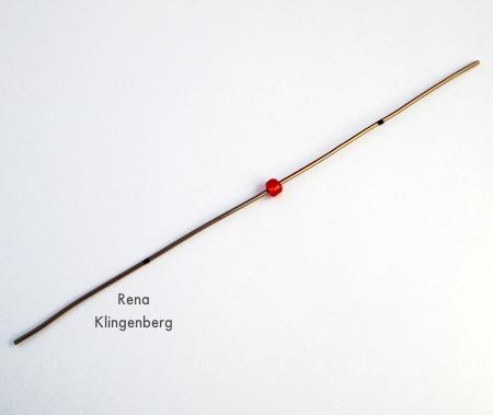 Amarrando contas em ganchos de enfeite de natal fáceis - Tutorial de Rena Klingenberg