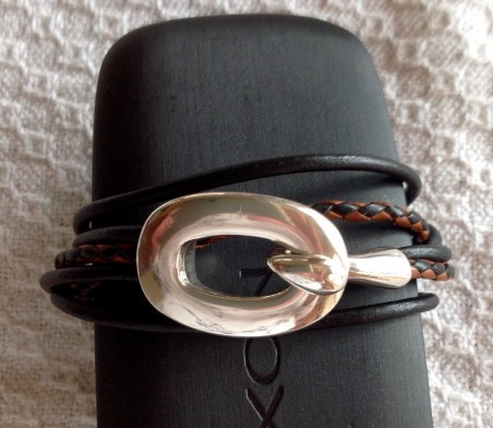 Help - leather wrap bracelet with hook clasp that doesn't stay fastened
