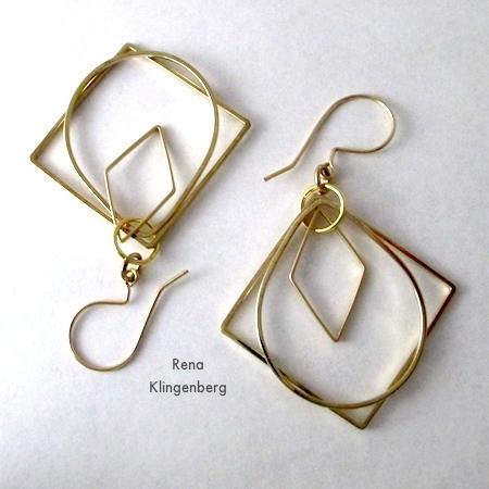 Brincos de argola e loops acabados - Tutorial de Rena Klingenberg