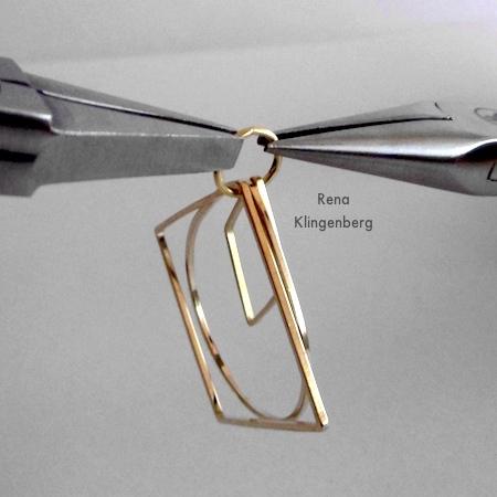Girando o anel de salto fechado para brincos Loops & Hoops - Tutorial de Rena Klingenberg