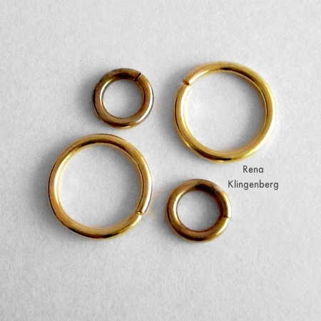 Jump rings for Loops & Hoops Earrings - Tutorial by Rena Klingenberg