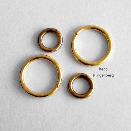 Anéis de salto para brincos de argola e argolas - Tutorial de Rena Klingenberg