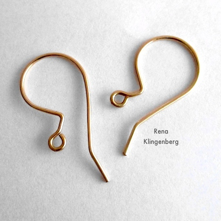 Earwires for Loops & Hoops Earrings - Tutorial by Rena Klingenberg